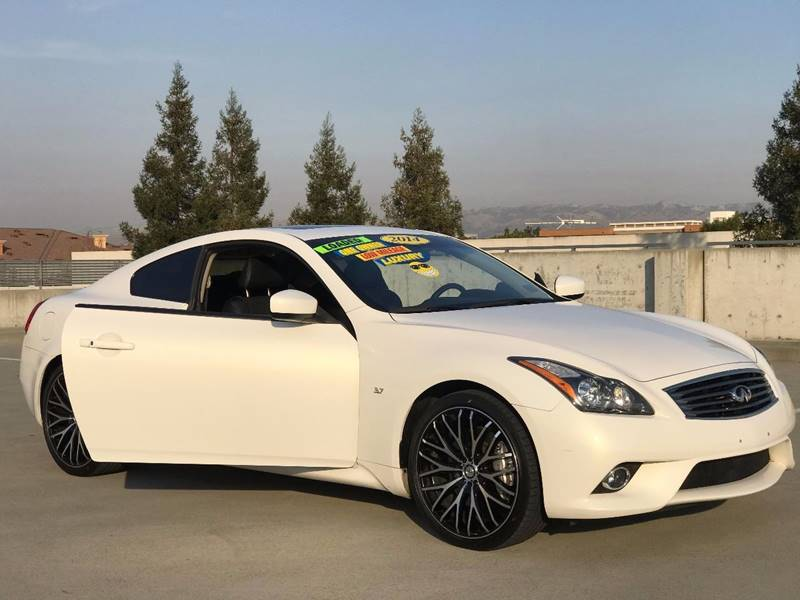 2014 INFINITI Q60 COUPE JOURNEY 2DR COUPE white exhaust - dual tip door handle color - body-colo