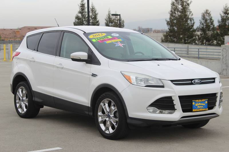 2013 FORD ESCAPE SEL 4DR SUV white exhaust - dual tip rear spoiler - roofline door handle color