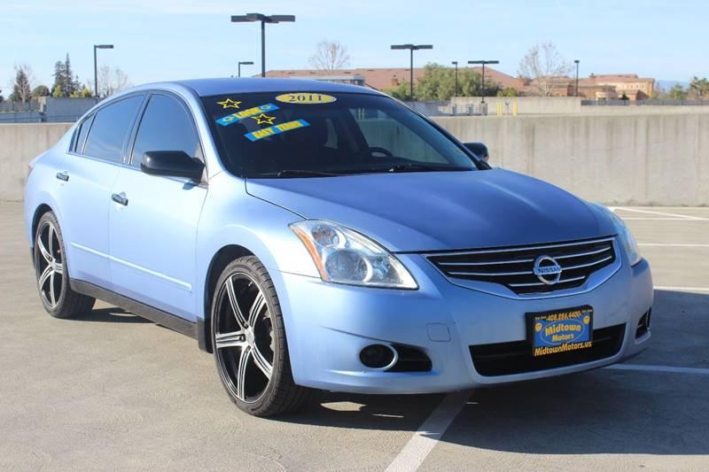 2011 NISSAN ALTIMA 25 S 4DR SEDAN blue exhaust - dual tip door handle color - body-color exhau