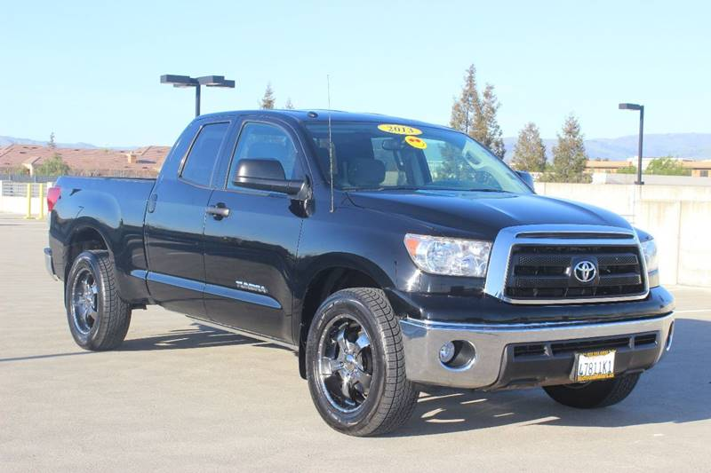 2013 TOYOTA TUNDRA GRADE 4X2 4DR DOUBLE CAB PICKUP black tailgate - lift assist front bumper col