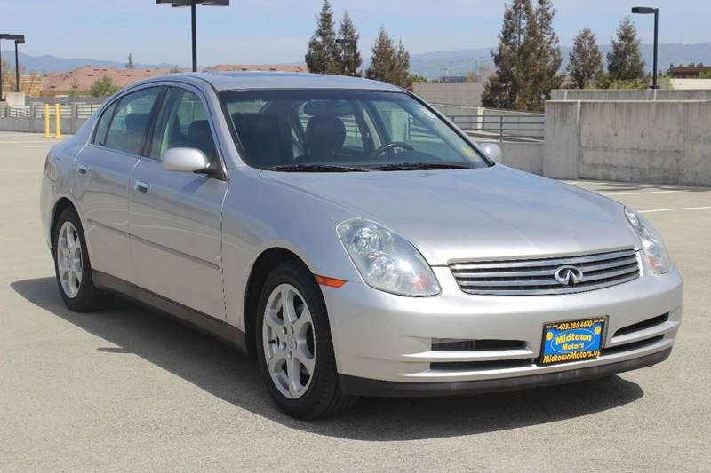 2003 INFINITI G35 BASE LUXURY 4DR SEDAN WLEATHER gray front air conditioning front air conditio
