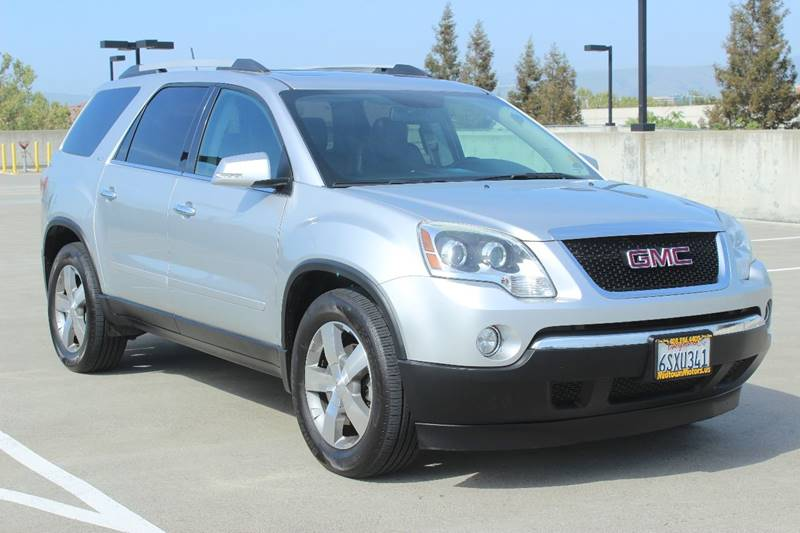 2011 GMC ACADIA SLT 1 AWD 4DR SUV silver exhaust - dual tip body side moldings - body-color doo