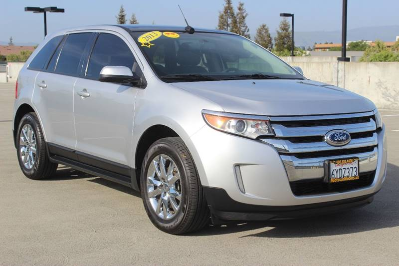 2013 FORD EDGE SEL 4DR CROSSOVER silver exhaust - dual tip rear spoiler - roofline door handle