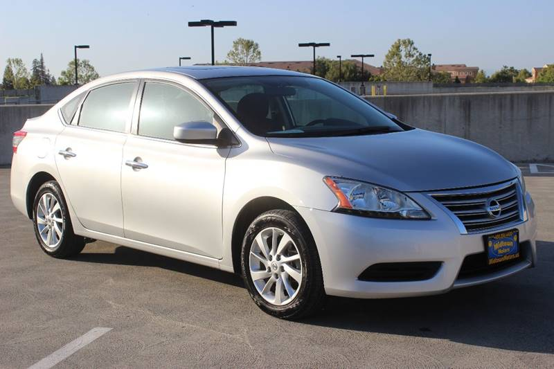 2015 NISSAN SENTRA SV 4DR SEDAN silver door handle color - chrome front bumper color - body-colo
