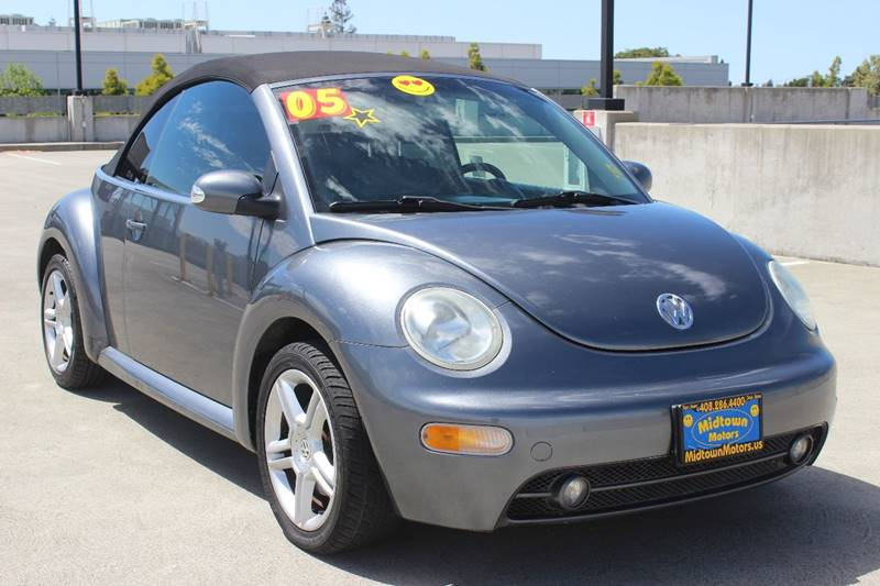 2005 VOLKSWAGEN NEW BEETLE GLS 18T 2DR TURBO CONVERTIBLE gray front air conditioning front air