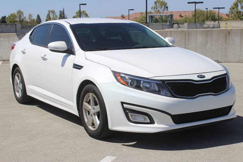 2015 KIA OPTIMA LX 4DR SEDAN white exhaust - dual tip body side moldings - body-color door hand