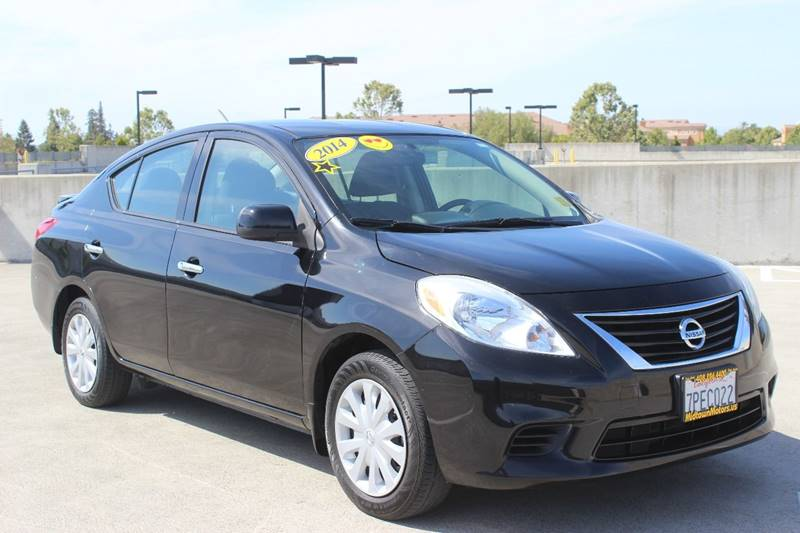 2014 NISSAN VERSA 16 SV 4DR SEDAN black headlight bezel color - chrome door handle color - chro