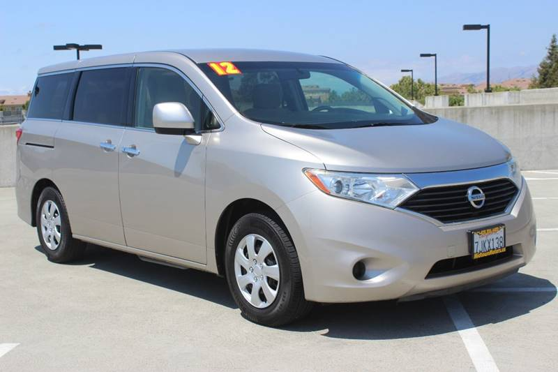 2012 NISSAN QUEST 35 S 4DR MINI VAN silver rear spoiler - roofline door handle color - chrome