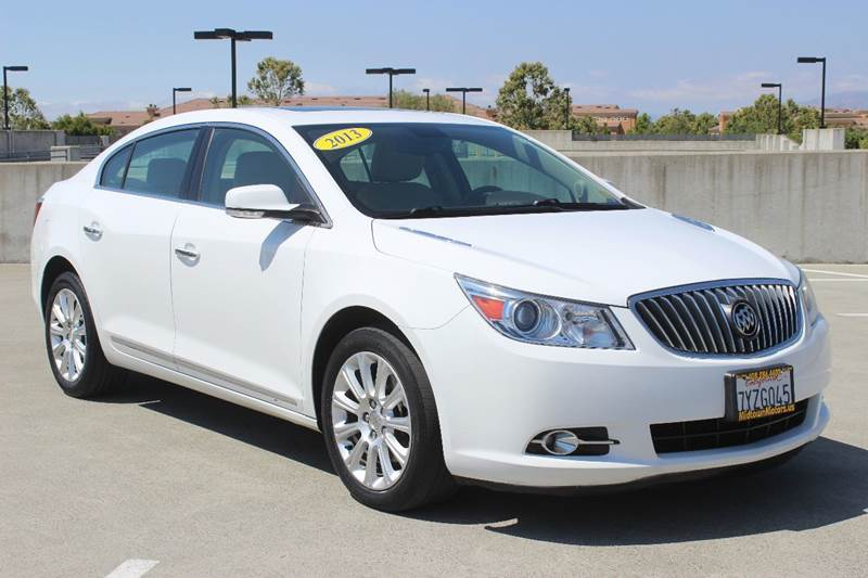 2013 BUICK LACROSSE LEATHER AWD 4DR SEDAN white exhaust - dual tip active grille shutters body