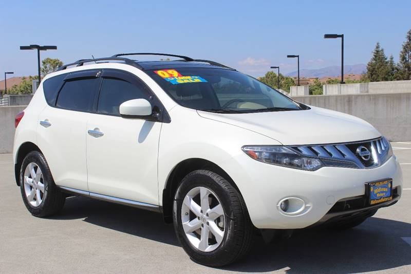 2009 NISSAN MURANO SL 4DR SUV white exhaust - dual tip door handle color - chrome exhaust tip c