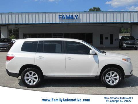 2012 Toyota Highlander For Sale >> 2012 Toyota Highlander For Sale In Saint George Sc