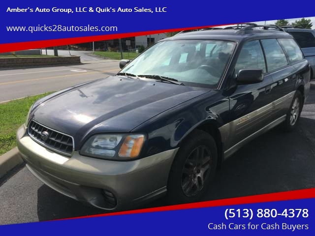 2003 subaru outback awd 4dr wagon in goshen oh quiks auto sales 2003 subaru outback awd 4dr wagon goshen oh freerunsca Images