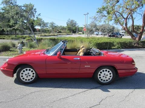 Alfa Romeo Spider For Sale In Florida Carsforsalecom - 1991 alfa romeo spider for sale
