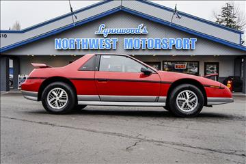 1985 Pontiac Fiero for sale in Lynnwood, WA