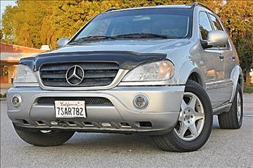 2001 Mercedes-Benz M-Class for sale at VCB INTERNATIONAL BUSINESS in Van Nuys CA