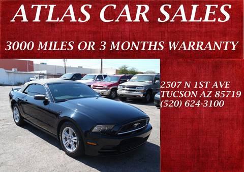 2013 Ford Mustang 100842 Miles $12995 & Atlas Car Sales - Used Cars - Tucson AZ Dealer markmcfarlin.com