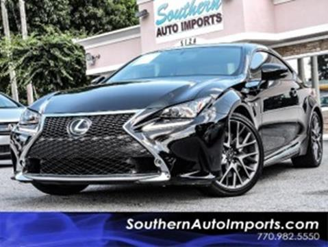 2015 Lexus RC 350 for sale at Used Imports Auto - Southern Auto Imports in Stone Mountain GA