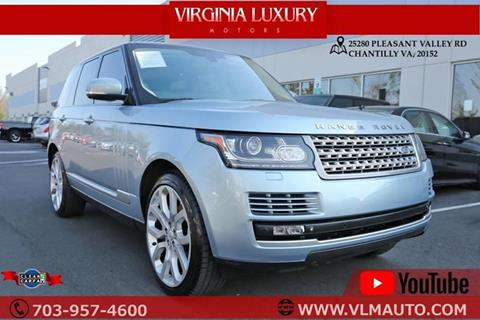 2014 Land Rover Range Rover for sale at Used Imports Auto - Virginia Luxury Motors in Chantilly GA