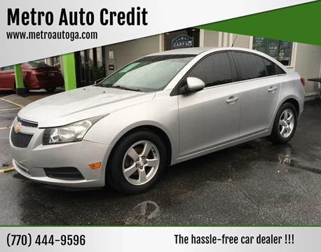 2013 Chevrolet Cruze for sale at Used Imports Auto - Metro Auto Credit in Smyrna GA