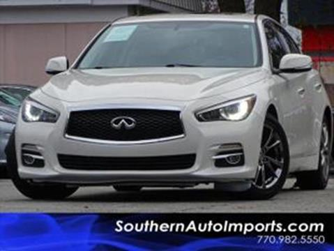 2015 Infiniti Q50 for sale at Used Imports Auto - Southern Auto Imports in Stone Mountain GA