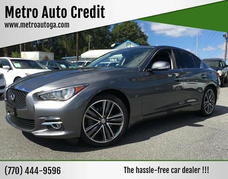 2015 Infiniti Q50 for sale at Used Imports Auto - Metro Auto Credit in Smyrna GA