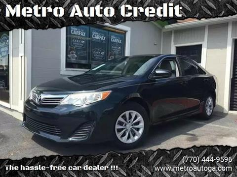 2013 Toyota Camry for sale at Used Imports Auto - Metro Auto Credit in Smyrna GA