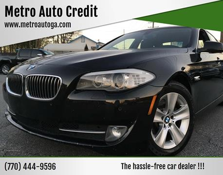 2013 BMW 5 Series for sale at Used Imports Auto - Metro Auto Credit in Smyrna GA