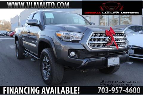 2016 Toyota Tacoma for sale at Used Imports Auto - Virginia Luxury Motors in Chantilly GA