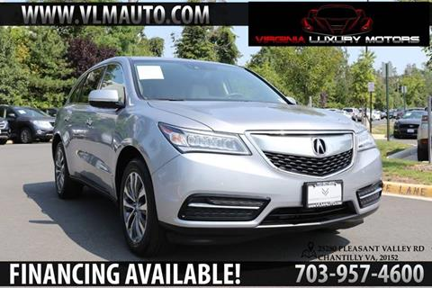 2016 Acura MDX for sale at Used Imports Auto - Virginia Luxury Motors in Chantilly GA