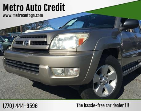 2004 Toyota 4Runner for sale at Used Imports Auto - Metro Auto Credit in Smyrna GA