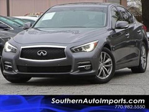2016 Infiniti Q50 for sale at Used Imports Auto - Southern Auto Imports in Stone Mountain GA
