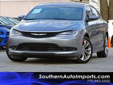 2015 Chrysler 200 for sale at Used Imports Auto - Southern Auto Imports in Stone Mountain GA