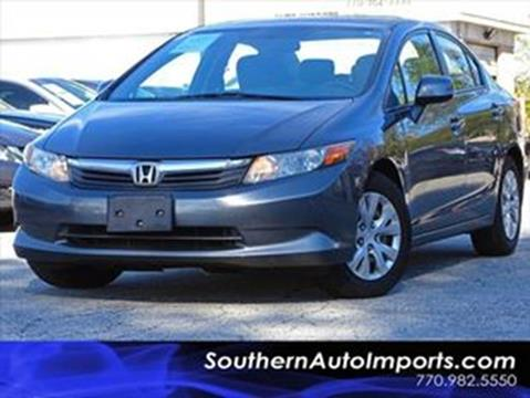 2012 Honda Civic for sale at Used Imports Auto - Southern Auto Imports in Stone Mountain GA