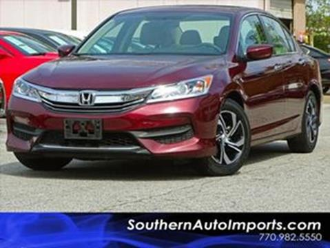 2016 Honda Accord for sale at Used Imports Auto - Southern Auto Imports in Stone Mountain GA