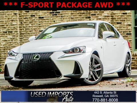 2017 Lexus IS 300 for sale at Used Imports Auto in Roswell GA