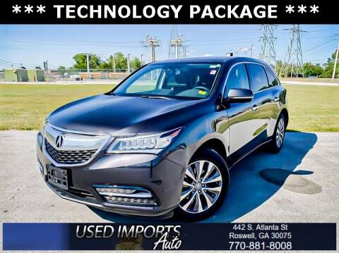 2014 Acura MDX for sale at Used Imports Auto in Roswell GA