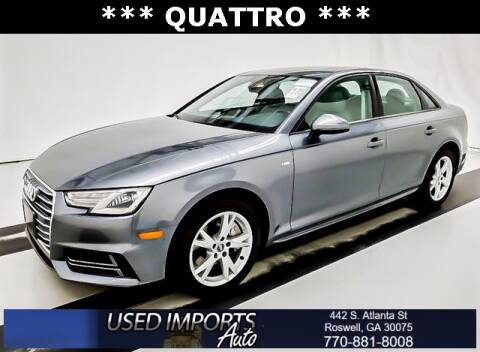 2018 Audi A4 for sale at Used Imports Auto in Roswell GA
