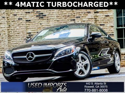 2017 Mercedes-Benz C-Class for sale at Used Imports Auto in Roswell GA