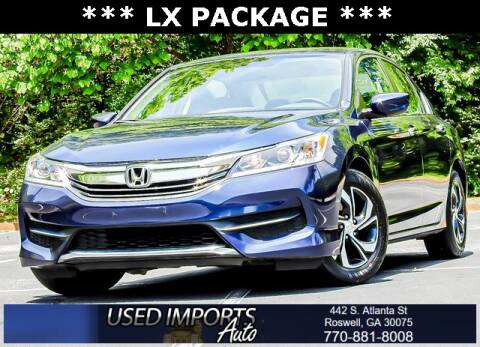 2017 Honda Accord for sale at Used Imports Auto in Roswell GA