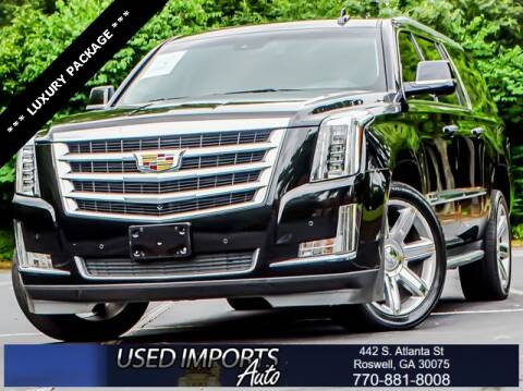2016 Cadillac Escalade ESV for sale at Used Imports Auto in Roswell GA