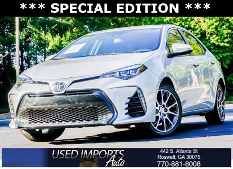 2017 Toyota Corolla for sale at Used Imports Auto in Roswell GA