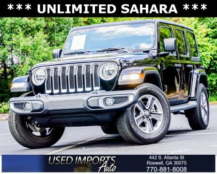 2019 Jeep Wrangler Unlimited for sale at Used Imports Auto in Roswell GA