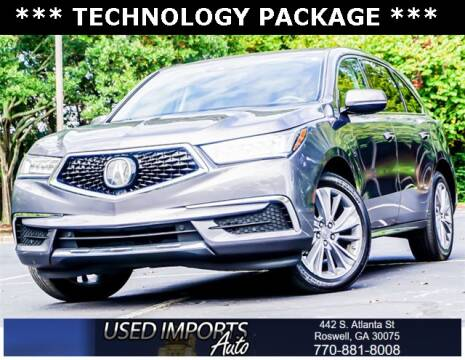 2017 Acura MDX for sale at Used Imports Auto in Roswell GA