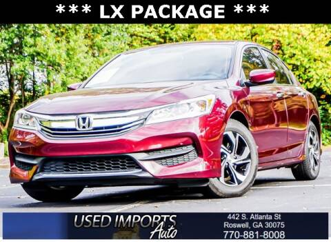 2016 Honda Accord for sale at Used Imports Auto in Roswell GA