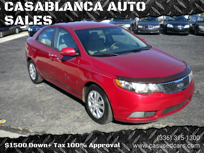 2011 Kia Forte for sale at CASABLANCA AUTO SALES in Greensboro NC