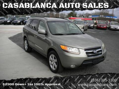 2007 Hyundai Santa Fe for sale at CASABLANCA AUTO SALES in Greensboro NC