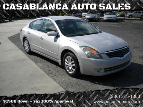 2009 Nissan Altima for sale at CASABLANCA AUTO SALES in Greensboro NC