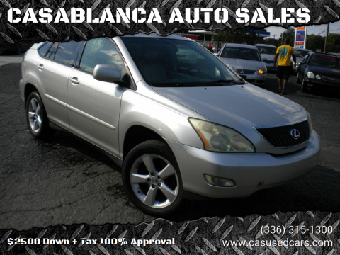 2006 Lexus RX 330 for sale at CASABLANCA AUTO SALES in Greensboro NC