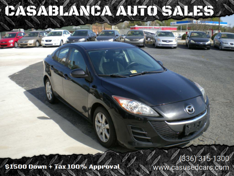 2010 Mazda MAZDA3 for sale at CASABLANCA AUTO SALES in Greensboro NC