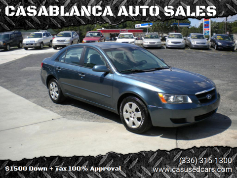 2006 Hyundai Sonata for sale at CASABLANCA AUTO SALES in Greensboro NC